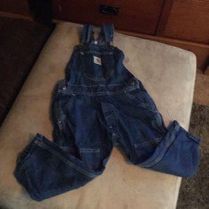 Boys 4T Carhartt jean overalls